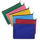 Aspire 6-Pack Multi-Purpose Cotton Canvas Zipper Makeup Bags, 7