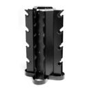 CAP RK-17 Vertical 4-sided Dumbbell Rack, Black