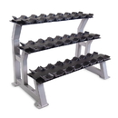 CAP RK-32 3-Tier Dumbbell Rack with Saddles for Chrome Dumbbells, 44 in