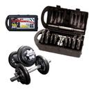 CAP RSWB-40TP Adjustable Cast Iron Dumbbell Set with Case, 40 lb