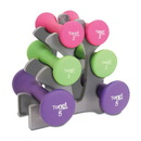 Tone Fitness SDNHS-TN020 Hourglass Neoprene Dumbbell Set, 20 lb