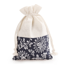 Aspire 60 Pieces Floral Linen Favor Bag, Gift Bags, 4 x 5-1/2 Inch
