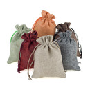 Aspire 60PCS Burlap Drawstring Pouches, Natural Favor Gift Bag, 5 x 6-3/4 Inch