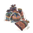 Aspire 24 Pieces Egyptian Style Fashion Jewelry Pouches, Favor Bags, 3 3/4 x 5 1/4 Inches