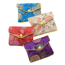 Aspire 24 PCS Brocade Jewelry Pouches, Zipper Purse, Favor Bag, 4 x 4-3/4 Inch