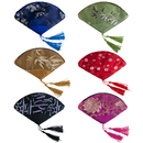 Aspire 6PCS Fan Shape Jewelry Pouches Silk Party Bag, Wedding Favor
