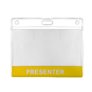 GOGO Custom Clear Plastic Badge Holder for Visitor, Member, Employee Cards, 4'' X 3''