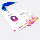 GOGO Pack of 100 Custom ID Badges, Personalized Lanyard Card, Name Tag for Conferences and Business