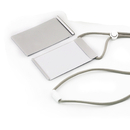 Muka Customize Vertical Aluminum Alloy Metal ID Badge Holder, with Elastic Adjustable Lanyard