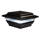 Classy Caps SL211B 4X4 Black Aluminum Imperial Solar Post Cap