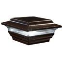 Classy Caps SL211R 4X4 Bronze Aluminum Imperial Solar Post Cap