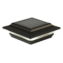 Classy Caps SL214B 5X5 Black Aluminum Imperial Solar Post Cap, Black