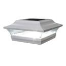 Classy Caps SL214W 5X5 White Aluminum Imperial Solar Post Cap