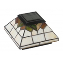Classy Caps WG322 5X5/4X4/3.5X3.5 Stained Glass Wellington Solar Post Cap