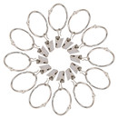 100 Pcs Curtain Rings with Clips 2 Inch Metal Movable Clasp Shower Curtain Window Hardware for Bedroom Home Decor Silver