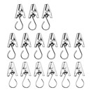 Shower Curtain Clips Hook 200 Pcs Stainless Steel Drapery Clips Window Hardware for Curtain Photos Home Decoration