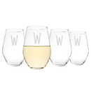 Cathy's Concepts 1101-4 Personalized 19 oz. Contemporary Stemless Wine Glasses (Set of 4)