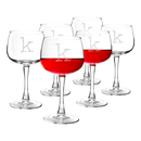 Cathy's Concepts 1104R-6 Personalized 13 oz. Red Wine Glasses (Set of 6)