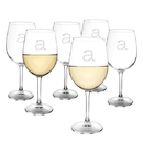 Cathy's Concepts 1104W-6 Personalized 12 oz. White Wine Glasses (Set of 6)