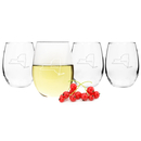 Cathy's Concepts 1110HS Home State Stemless Wine Glasses (Set of 4)