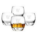 Cathy's Concepts 1116-4 Personalized 10.75 oz. Heavy Based Whiskey Glasses (Set of 4)