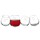 Cathy's Concepts 1119-4ST Pop the Cork Tipsy Wine Glasses