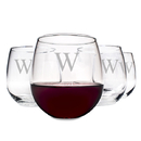 Cathy's Concepts 1210-4 Personalized Stemless Red Wine Glasses (Set of 4)