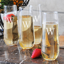 Cathy's Concepts 1228-4 Stemless Champagne Flutes(Set of 4)