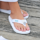 Cathy's Concepts 1600W White Personalized Flip Flops