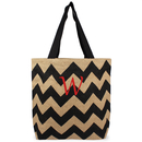 Cathy's Concepts 2138 Personalized Chevron Natural Jute Tote Bag