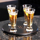 Cathy's Concepts 2150B Round Beer Flight Sampler w/ 4pc. Glass Set