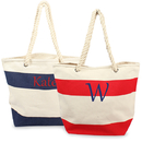 Cathy's Concepts 2177 Striped Canvas Totes w/ Rope Handles