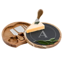 Cathy's Concepts 2201 Personalized Slate and Acacia Cheese Board w. Utensils