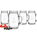 Cathy's Concepts A1190 Anchor Old Fashioned Drinking Jars (Set of 4)