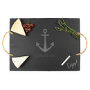 Cathy's Concepts ACH-2185 Personalized Anchor Slate Serving Board