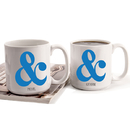 Cathy's Concepts AMP-3900 Personalized Ampersand Large Coffee Mugs (Set of 2)