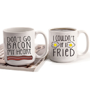 Cathy's Concepts BAC-3900 Bacon & Eggs Large Coffee Mugs (Set of 2)
