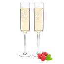 Cathy's Concepts BDE-3668 Personalized Best Day Ever 8 oz. Contemporary Champagne Flutes
