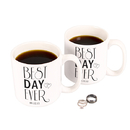 Cathy's Concepts BDE-3900 Personalized Best Day Ever 20 oz. Large Coffee Mugs (Set of 2)