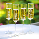 Cathy's Concepts CB3668-4 Celebrate - Contemporary Champagne Flutes (Set of 4)