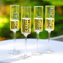 Cathy's Concepts CH3668-4 Cheers - Contemporary Champagne Flutes (Set of 4)