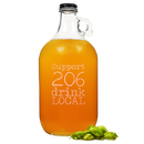 Cathy's Concepts DL-2216 Personalized Drink Local Craft Beer Growler