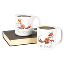 Cathy's Concepts FOX-3900 Personalized 20 oz. Fox Large Coffee Mugs (Set of 2)