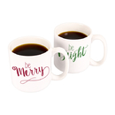 Cathy's Concepts H16-3900 Merry & Bright 20 oz. Large Coffee Mugs (Set of 2)