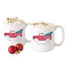 Cathy's Concepts H17-3900TK Personalized Christmas Tree Truck 20 oz. Large Coffee Mugs