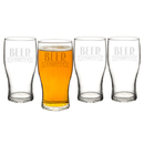 Cathy's Concepts H17-4115-4 19 oz. Beer Merry Pilsner Glasses