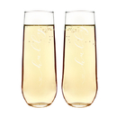 Cathy's Concepts HH1228-2 Hubby & Hubby Stemless Champagne Flutes