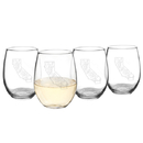 Cathy's Concepts HS2-1110 21 oz. My State Stemless Wine Glasses