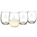 Cathy's Concepts HW-1110-4 Personalized Spooky 21 oz. Stemless Wine Glasses