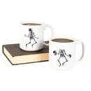 Cathy's Concepts HW16-3900-SK Dancing Skeletons Large 20 oz. Coffee Mug Set